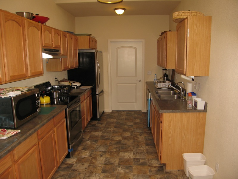 The Kitchen Is Completely Equipped With All New Stainless Steel Appliances A Smooth Top Stove Large Refrigerator With Bottom Freezer Dishwasher